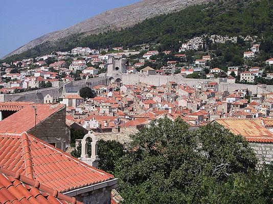 Dubrovnik. Stadtmauerrundgang gut im Blick.