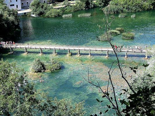 Krka-Wasserfälle. Auch hier gilt:  Was ein Traum!