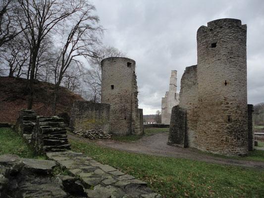 Burg Hardensteinruine.