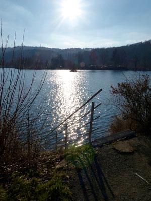 Blick auf den See auf dem Campingplatz Teichmann II.