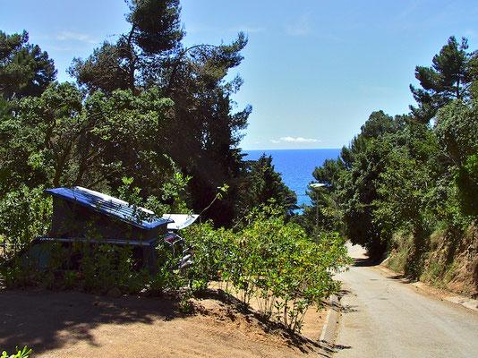 Campingplatz in der Nähe von Tossa del mar, Spanien.