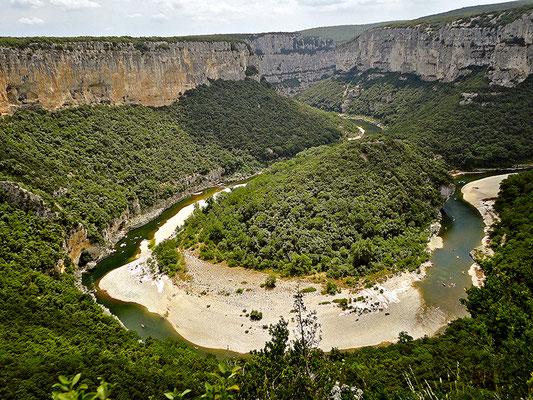 Ardèche-Schlucht.