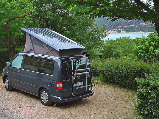 Campingplatz am Lac de Sainte-Croix.