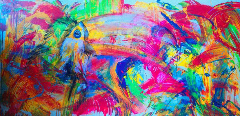 tucan (feat. Niky Hartmann) Lack auf Holz 185 x 85 cm