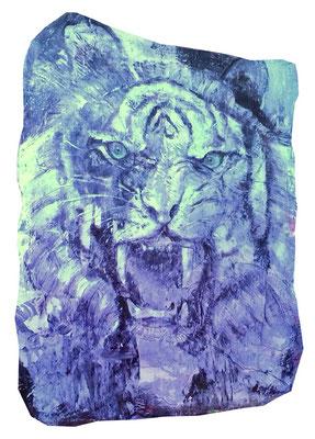tiger Lack auf Pappmaché 120 x 150 cm