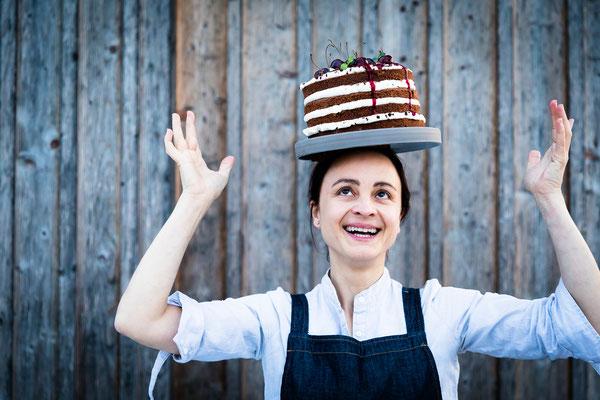 Brigitte Berghammer-Hunger, chef at Gasthaus Ödenturm - pic taken for Der Feinschmecker Magazin