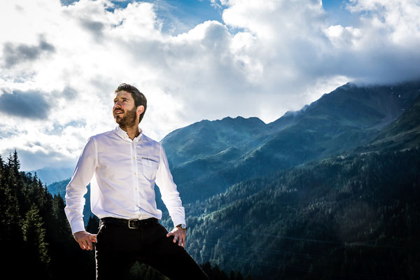 Chef James Baron, Hotel Tannenhof, St. Anton am Arlberg - pic taken for Der Feinschmecker Magazin