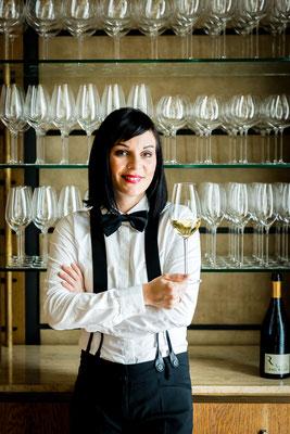 Marietta Stegbuchner, Sommelière at Restaurant Überfahrt - pic taken for Der Feinschmecker Magazin
