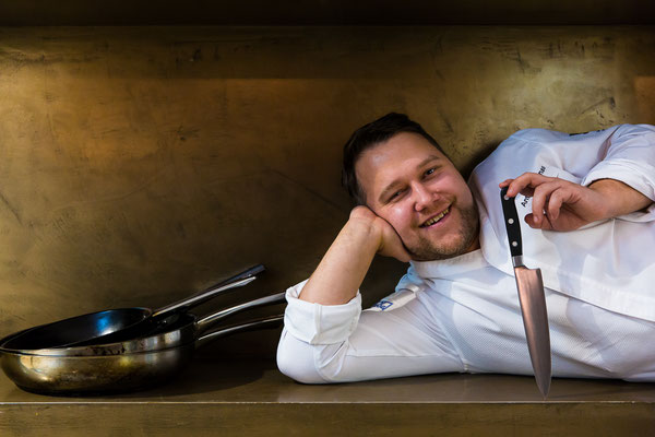 Cook of the Month Anton Schmaus (restaurant Storstad, Regensburg) - pic taken for Der Feinschmecker