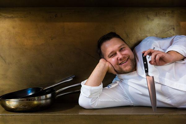 Cook of the Month Anton Schmaus (restaurant Storstad, Regensburg) - pic taken for Der Feinschmecker
