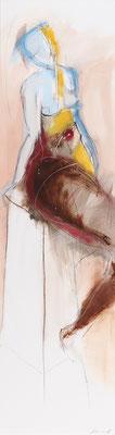 Akt, Öl auf Leinwand, 130 x 35 cm, € 1.600,-