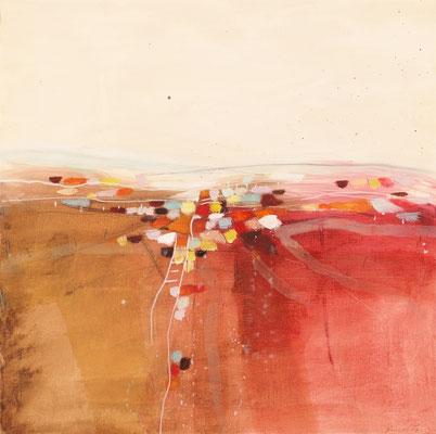 Felder, Öl auf Malplatte, 74 x 74 cm, € 1.100,-