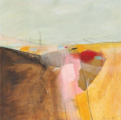 Landschaft, Öl auf Malplatte, 30 x 30 cm, € 440,-