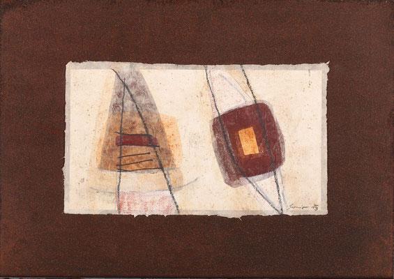 Relikt, Mischtechnk auf Eisenplatte, 30 x 42 cm, € 370,-