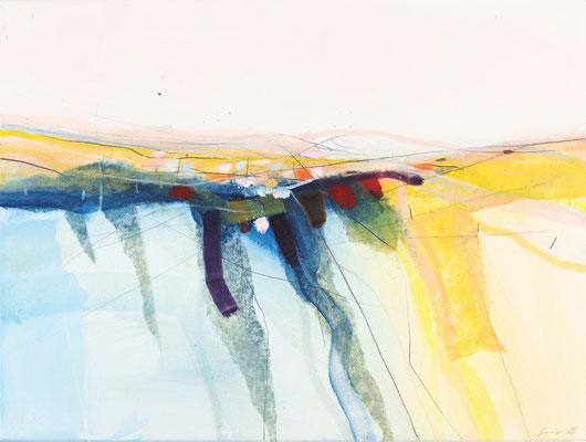 Am Fluss, Öl auf Leinwand, 60 x 80 cm