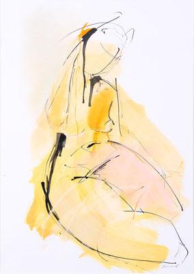 Akt, Öl/Tusche auf Papier, 90 x 70 cm, € 890,-