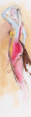 Akt, Öl auf Leinwand, 130 x 35 cm