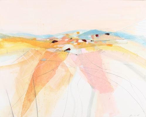 Felder, Öl auf Leinwand, 80 x 100 cm