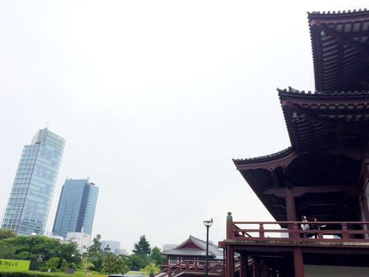 Tokyo: Hochhäuser und Zojo-ji