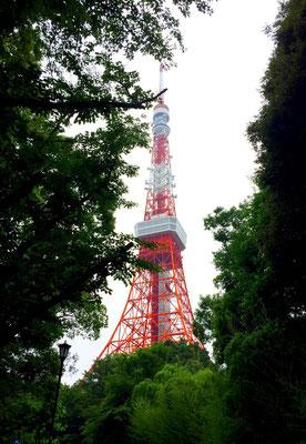 Tokyo: Tokyo Tower im städtischen Grün