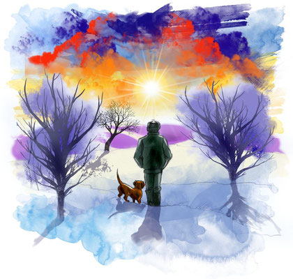"""Иллюстрация к рассказу """"Чёртова перечница"""". Журнал """"Друг для любителей собак""""."""