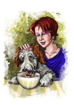 """Иллюстрации к рассказу """"Шрек"""" для журнала """"Друг для любителей собак""""."""