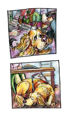"""Иллюстрации к рассказу """"Гнусусы"""". Журнал """"Друг. Для любителей собак"""", №12, 2010."""