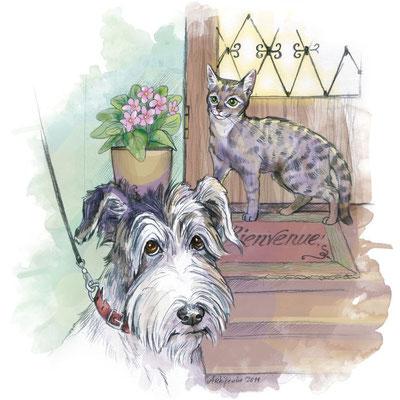 """Иллюстрация для журнала """"В мире животных""""."""