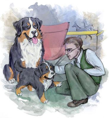 """Иллюстрация для журнала """"Друг. Для любителей собак""""."""