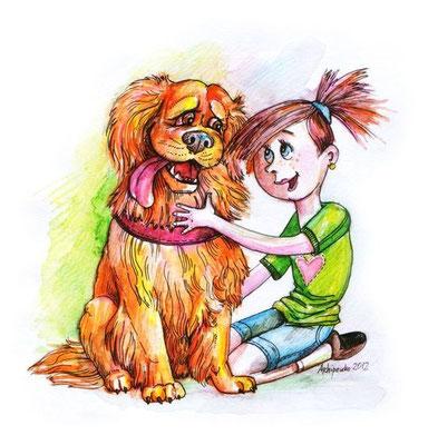 """Рисунки к рассказу """"Малевич"""" для журнала """"Друг для любителей собак"""".""""."""