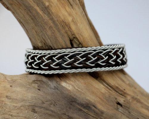 Pferdehaararmband aus Rentierleder, Zinndraht, Schweifhaar, 001d-B30-H-X €80,-