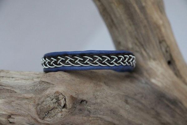Pferdehaararmband aus Rentierleder, Zinndraht, Schweifhaar, 001-B20-H-B,  €59,-