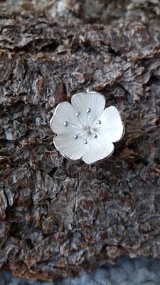 Anhänger Kirschblüte, 925/- Silber, handgeschmiedet, VERKAUFT
