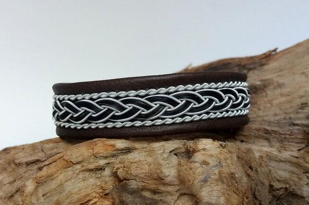 Pferdehaararmband aus Rentierleder, Zinndraht, Schweifhaar, 016-B40-H-X, €75,-