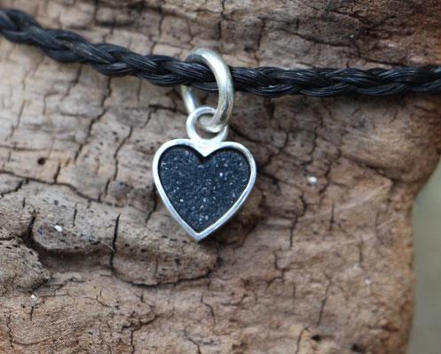 Anhänger Achatkristall Herz, doppelseitig- Seite 1, 925/er Silber, €145,-