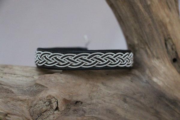 Pferdehaararmband aus Rentierleder, Zinndraht, Schweifhaar, 015-B25-H-S,  €75,-