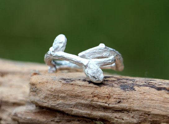 Ring Eichenast, 925/- Silber, €80,-