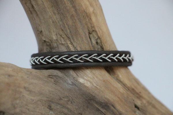 Pferdehaararmband aus Rentierleder, Zinndraht, Schweifhaar, 003-B20-H-X,  €59,-