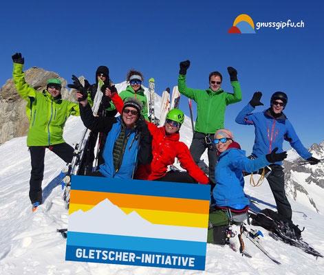 gnussgipfu unterstützt die Gletscherinitiative