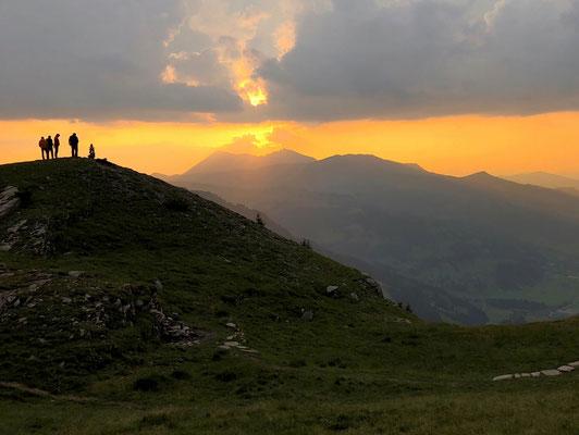 Sonnenuntergang Fluhseehütte