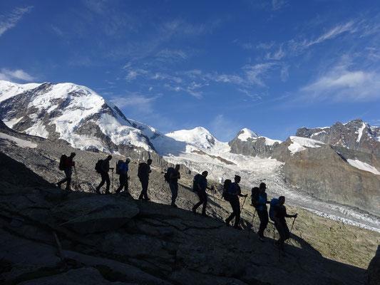 Abstieg Monte Rosa Hütte