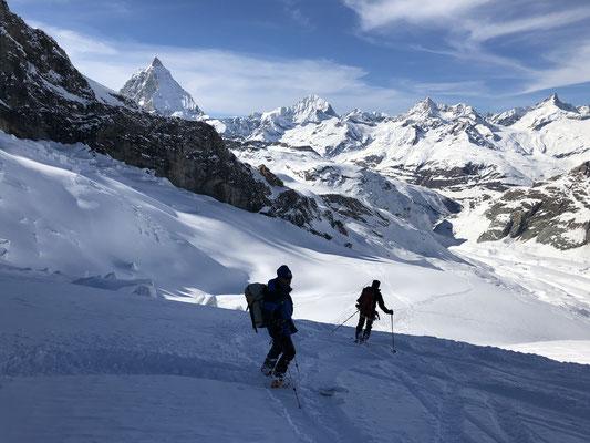 Abfahrt Schwärze Gletscher