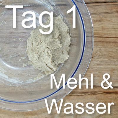 Sauerteig_Tagebuch_Tag_1_Mehl&Wasser