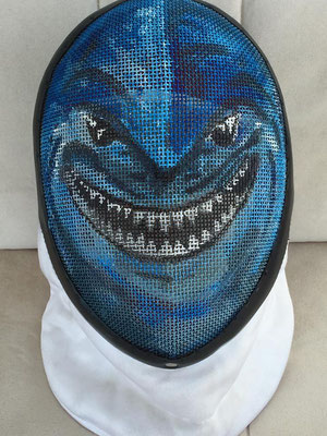Careta personalizada para Guille como el Tiburón de Nemo