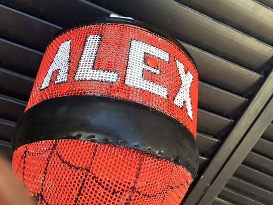 Careta de Spiderman para Alex Monroy
