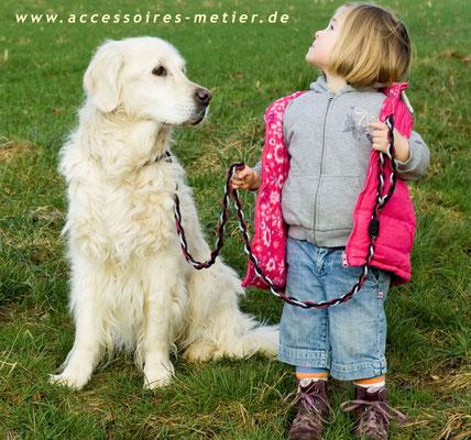 Hundeleine geflochten Curly Accessoires für Mensch und Tier