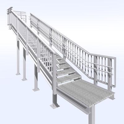 階段パース