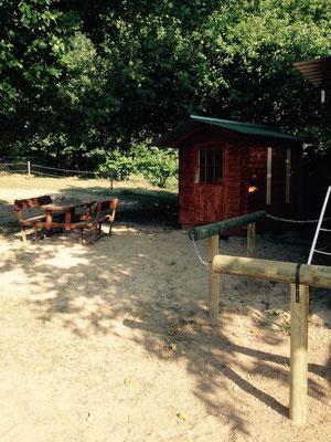 Sattelkammer und Sitzecke
