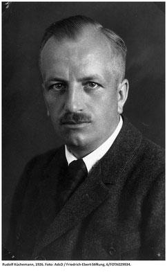 Rudolf Küchemann (1884-1950), Mitglied des Rates ab April 1919, 1926, Archiv der sozialen Demokratie der Friedrich-Ebert-Stiftung.