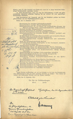 S.2: Deutschlands Unternehmer hatten die Russische Revolution vor Augen. Sie waren zu großen Zugeständsnissen bereit, um ihr Eigentum vor der Sozialisierung (Enteignung) zu schützen. StA Göttingen